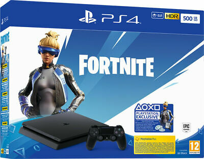 Ps4 500Gb Slim Jet Black + Fortnite Download - Sony - Hdr - Cuh-2216A - Italia