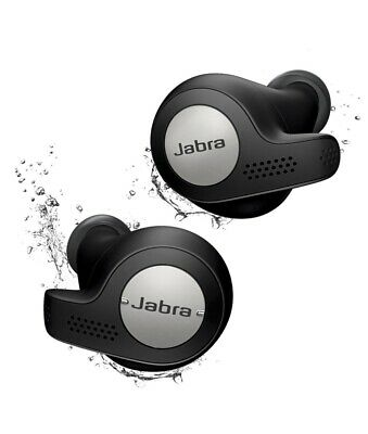 Genuine Jabra Elite Active 65t Titanium Black Wireless Earbuds / Charging Case