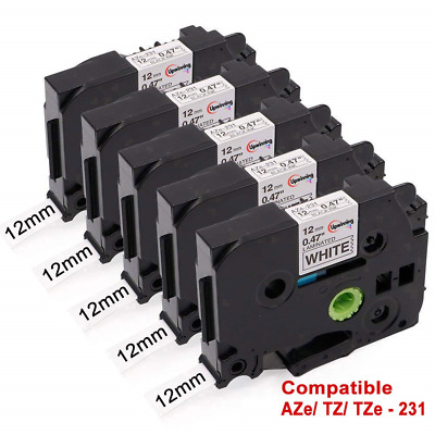 5x Brother P-Touch H101gb Tape Compatible TZe-231 TZe 231 Label Laminated Casset