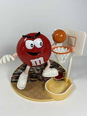 1999 M&M's CANDY DISPENSER BASKETBALL RED FIGURE