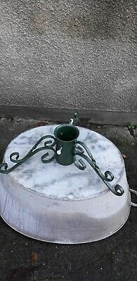 Christmas tree stand scroll wrought iron type quality made used
