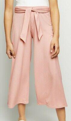 New Look Pale Pink Stretchy Ribbed Culottes Trousers Age 10 11 Sold Out