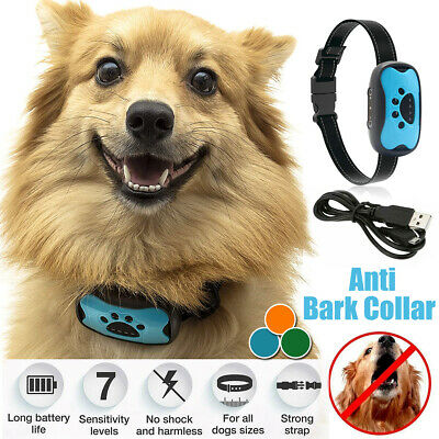 11in1 Stop Dog Barking Anti Bark Collar Sound&Vibration Adjustable Rechargeable