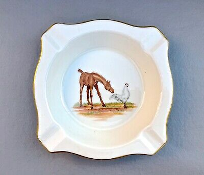 vintage Abercrombie & Fitch ashtray Horse Rooster