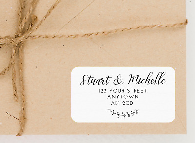 Personalised Address Labels / Stickers - Wedding, New Home, RSVP, Return Sticker