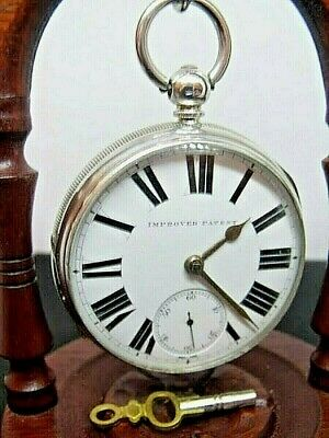 Antique Jeweled Fusee Pocket Watch Solid Silver  Alfred Hogg Rotherham 1885 Mint