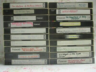 Lot of 20 Used VHS Tapes/ Sold as Blank Tapes