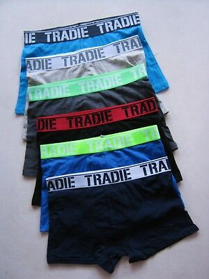 6 x  MEN'S TRADIE UNDERWEAR COTTON STRETCH TRUNK