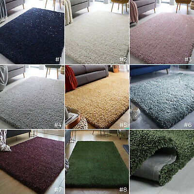 Small - Extra Large Chunky Thick Pile Dazzle Sparkle Glitter Veloce Shaggy Rug