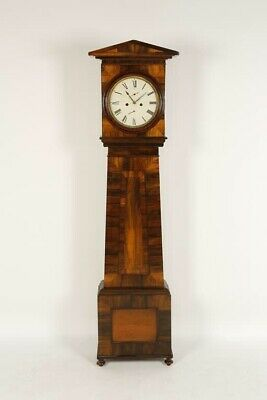 19th Century Rare Rosewood Scottish Longcase Clock