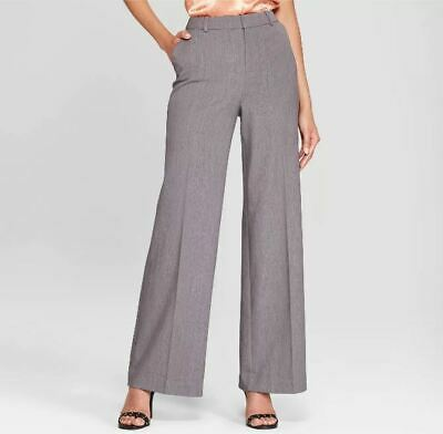 Women's Wide Leg Bi-Stretch Twill Pants-A New Day-Heather Gray-Various Sizes NWT