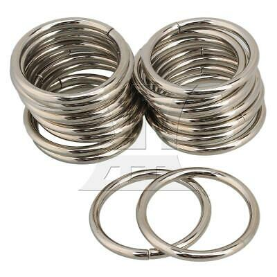 20x Multifunction 3.8cm Silver Metal Ring Retainer Bag Purse Buckle Strap