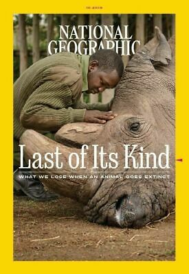 National Geographic October 2019 Issue - The Last of It's Kind - NEW