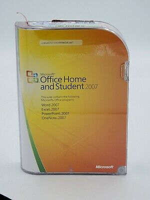 Microsoft Office Home and Student Word Excel PowerPoint OneNote 2007