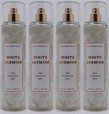 4 Bath & Body Works WHITE JASMINE Fine Fragrance Mist Spray