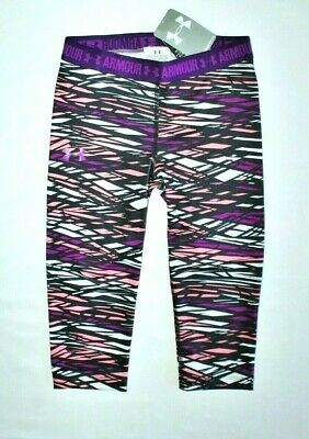 ~Girls Under Armour Leggings..youth Small 8..Stretch/Purple/Black/Pink..new/Tags