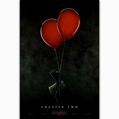 Y317 It Chapter 2 Pennywise 2019 Stephen King Horror Movie Silk Poster 30 24x36