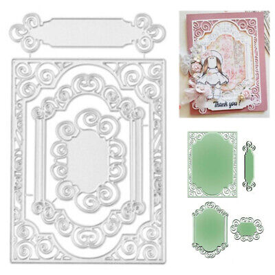 1 set Lace Frame Metal Cutting Dies Stencil DIY Scrapbooking Card Embossing