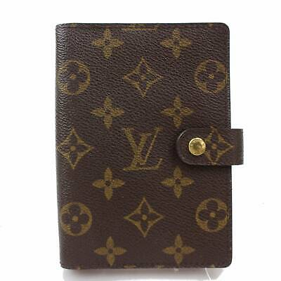 Authentic Louis Vuitton Diary Cover Agenda PM Browns Monogram 804228