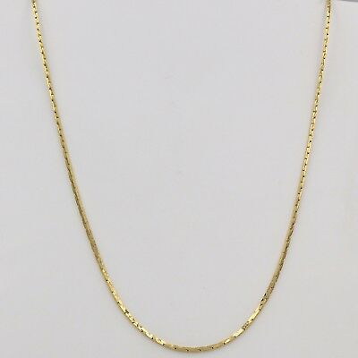 1mm High quality Unisex Real 18K Gold Filled Thin Snake Chain Necklace 22 inches