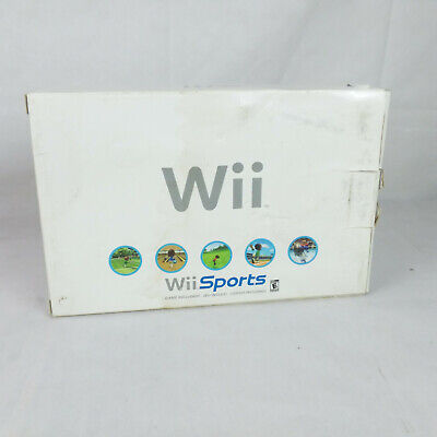Nintendo Wii Console White System CIB Complete in Box w/ Wii Sports + Extra Mote