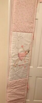 Fairy Princess Cot Bumper 180cm x 36cm 100% Cotton New