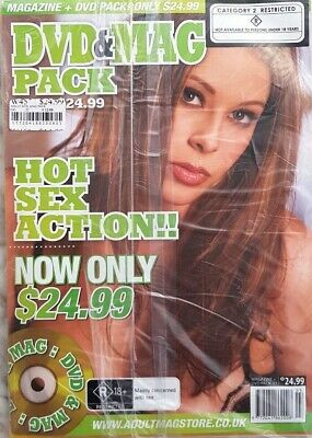 Adult DVD & MAG Pack, Hot Sex Action R Category 2 Restreicted Plastic Sealed New
