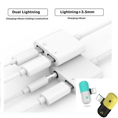 For iPhone 11 7/8 Plus XS AUX Adapter and Charge Cable Headphone Adapter+Charger