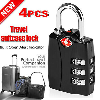 Travel Safety TSA Approved Locks Suitable Bags of All Size Open Alert Indicator