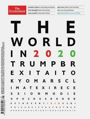 The Economist The World In 2020 Special Edition Magazine Trump Jacinda Ardern