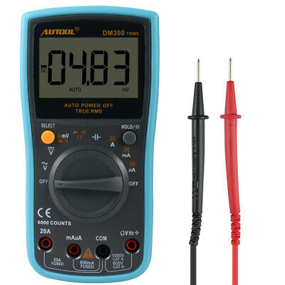 AUTOOL DM300 Auto-Ranging Digital Multimeter 6000 Counts AC/DC/Duty cycle Tester