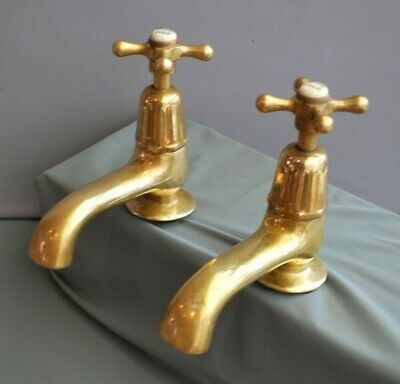 Old Brass Bath Taps  Bathroom Taps Reclaimed & Fully Refurbed Original Patina