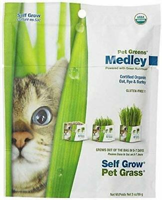 Bellrock Garden Greens Organic Kitty Cat Seed 3 Oz 88G Bag Oat Rye Barley Grass