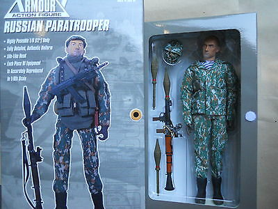 "1//6 ACTION FIGURE FIGURINE 12 /"" VINYL RUSSIAN PARATROOPER   FULL ACCESSORY MIB"