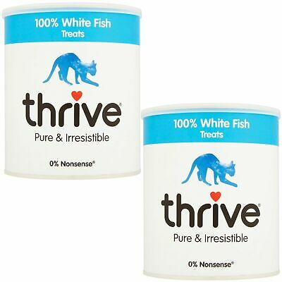 2 x thrive Cat 100% White Fish Treats MaxiTube, 200g - Real Natural Freeze Dried
