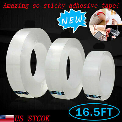 Washable Double-sided Grip Magic Tape Traceless Adhesive Nano Invisible Gel Tape
