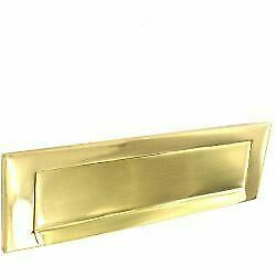 Polished Brass Victorian Style letterbox with fixings