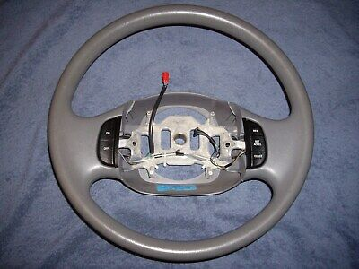 OEM FORD F150 EXPEDITION GRAY GRAPHITE VINYL STEERING WHEEL w / CRUISE CONTROL