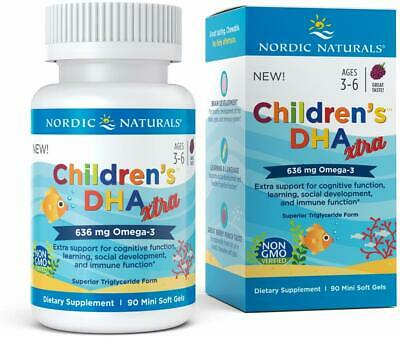 Children's DHA Xtra Potent Omega 3 Formula with Twice The DHA for Kid's Cognitiv