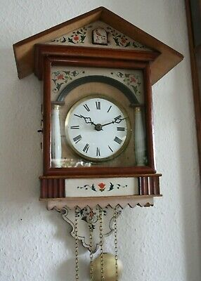 MAGNIFICENT ORIGINAL PAINTED CUCKOO CLOCK, Phillipp Haas, 1870s, extremely rare!