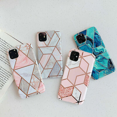 Geometric Marble Case For iPhone 11 Pro Max 7 8 Plus XR XS Max Soft Pastel Cover