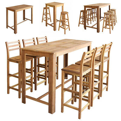Bar Table chair set Wood Stools Seating 3/5/7-set kitchen dining table Furniture