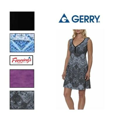 Gerry Women/'s Sundress Sleeveless Racerback Active Summer Dress