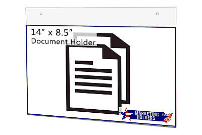 "Sign Holder Ad Frame 14""W x 8.5""H Wall Mount with Mounting Holes"