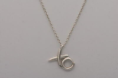 Tiffany & Co. Paloma Picasso XO Pendant Necklace in .925 Sterling Silver 16""