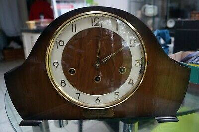 Bentima triple chime mantel clock.Westminster/Whittington/ St Michael.SEE VIDEO.