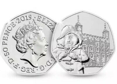 UK Coin 50p Pence 2019 Paddington At The London Tower New UNC From Sealed Bags