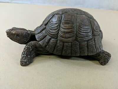 """DECORATIVE RED MILL RESIN TURTLE 7"""" x 4.5"""" x 3.5"""" INDOOR/ OUTDOOR DETAILED E2"""