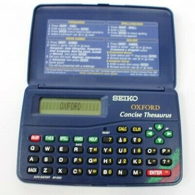 ~~SEIKO OXFORD CONCISE THESAURUS ER-2000 Pocket Word Games - Spell Checker