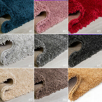Small X Large Thick Chunky Deep Luxury Dense Pile Super Soft Plain Shaggy Rugs
